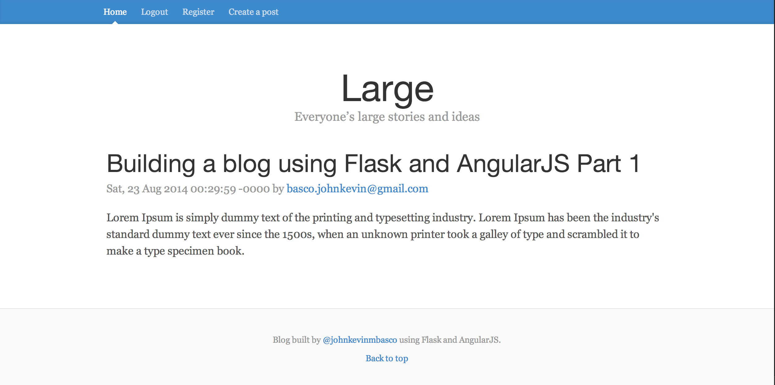 Building a blog using Flask and AngularJS Part 1